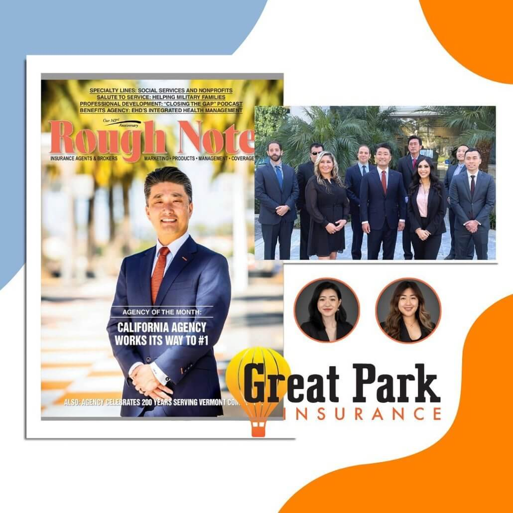 Great Park Insurance Rough Notes Cover Irvine, CA